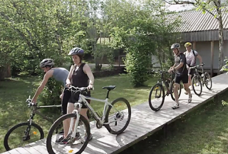 Accommodation adapted for Mountain Bikers