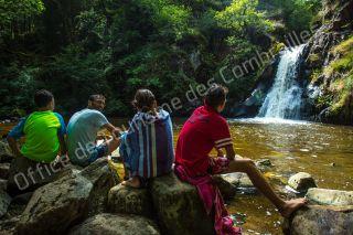 Cascade du Gour Saillant, auvergne, gorges de la sioule